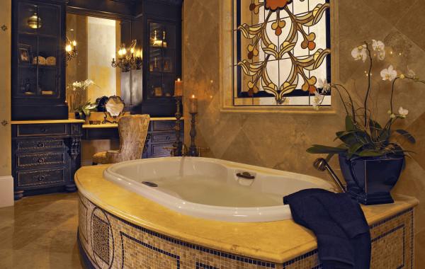 Crema Marfil Tub Deck