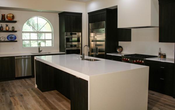 White Caesarstone Kitchen