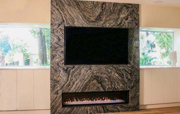 Blue Illusion Fireplace