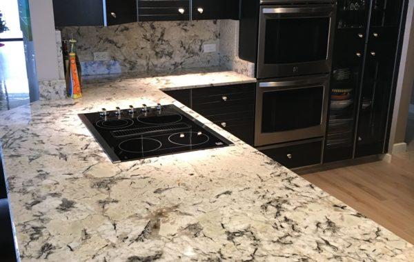 White Terrazo Kitchen