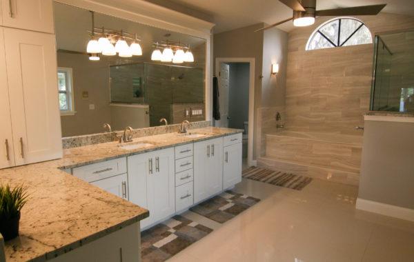 White Marfina Master Bath