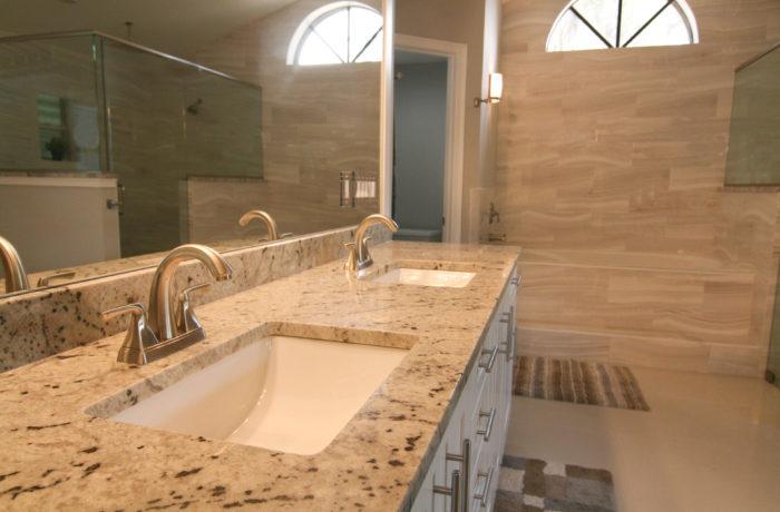 White Marfina w/ Undermount Sinks